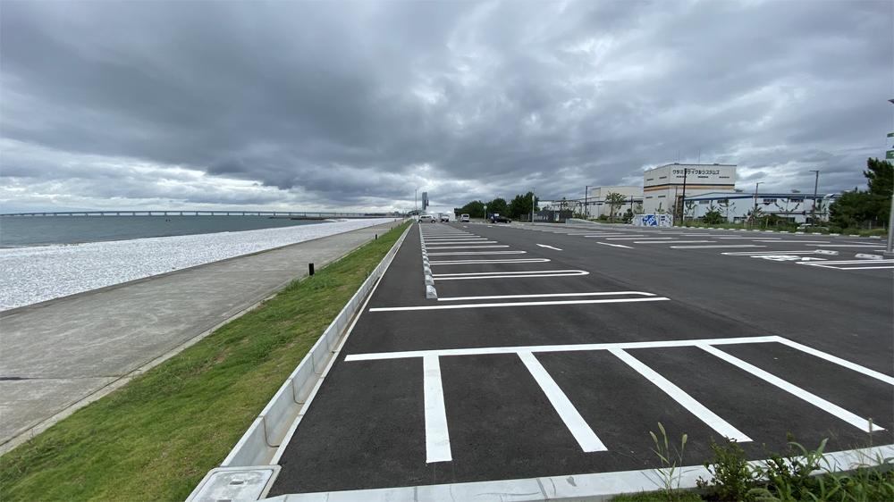 泉南りんくう公園の駐車場